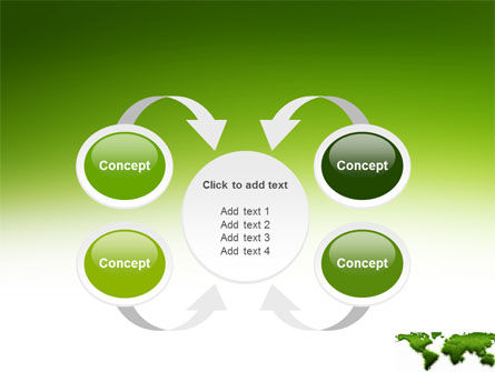 Green Grass of World PowerPoint Template Slide 6