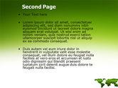 Green Grass of World PowerPoint Template#2