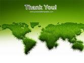 Green Grass of World PowerPoint Template#20