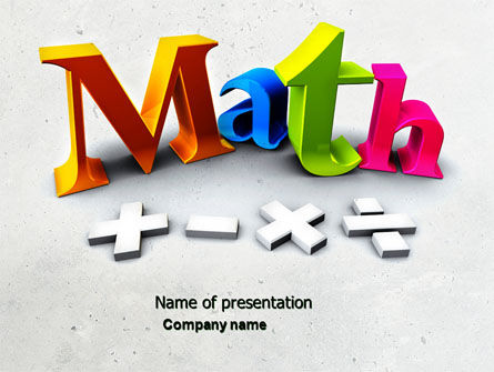 Education & Training: Math Toevoeging PowerPoint Template #04501