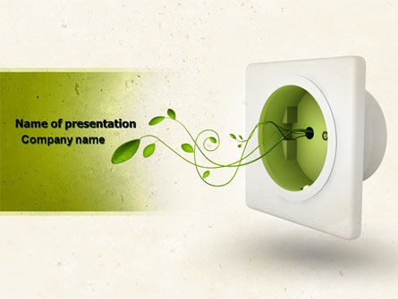 Green Socket PowerPoint Template