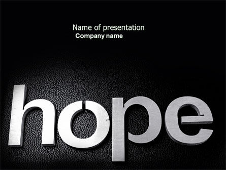Religious/Spiritual: Hope PowerPoint Template #04503