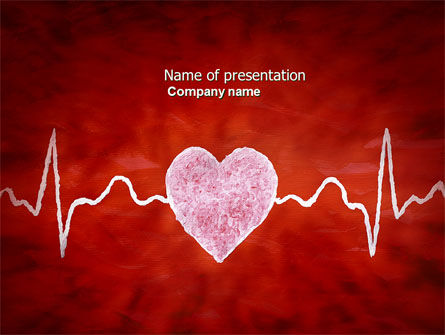 Heartbeat PowerPoint Template, 04504, Medical — PoweredTemplate.com