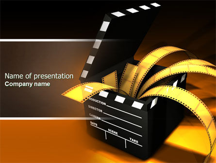 Movie Clapper PowerPoint Template, 04505, Careers/Industry — PoweredTemplate.com