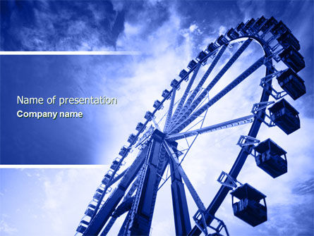 Ferris Wheel PowerPoint Template, 04507, Construction — PoweredTemplate.com