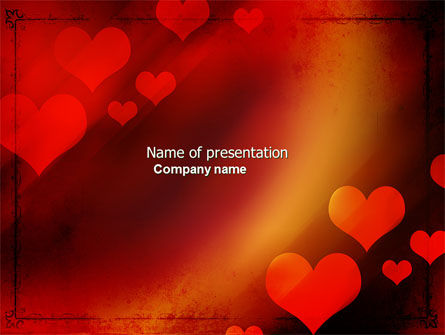 Holiday/Special Occasion: Modello PowerPoint - Tema amore #04508