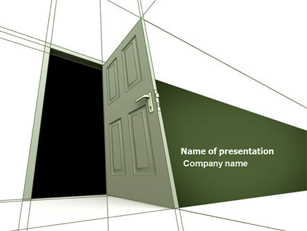 Consulting: Plan With Open Door PowerPoint Template #04510