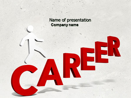 Careers/Industry: Plantilla de PowerPoint - movimiento de carrera #04514