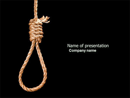 General: Noose PowerPoint Template #04515