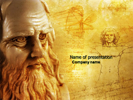 Education & Training: Leonardo Da Vinci PowerPoint Template #04517
