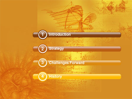 Leonardo Da Vinci Powerpoint Template Backgrounds