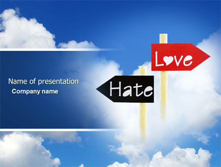 Love - Hate PowerPoint Template, 04518, Consulting — PoweredTemplate.com
