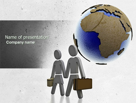 Migration PowerPoint Template, 04521, Careers/Industry — PoweredTemplate.com