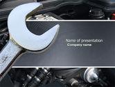 Utilities/Industrial: Car Repair PowerPoint Template #04522