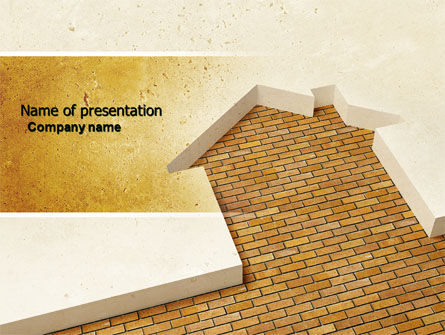 Dwelling Problem PowerPoint Template, 04523, Construction — PoweredTemplate.com