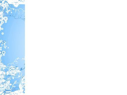 Blue Floral Theme PowerPoint Template, Slide 3, 04525, Abstract/Textures — PoweredTemplate.com