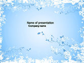 Abstract/Textures: Blue Bloementhema PowerPoint Template #04525