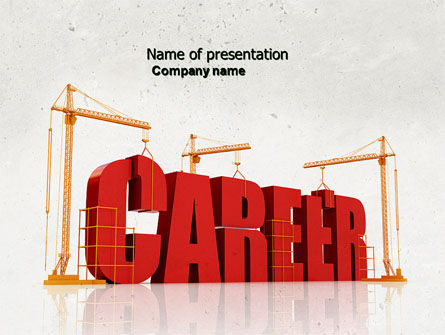 Career Building PowerPoint Template, 04528, Careers/Industry — PoweredTemplate.com