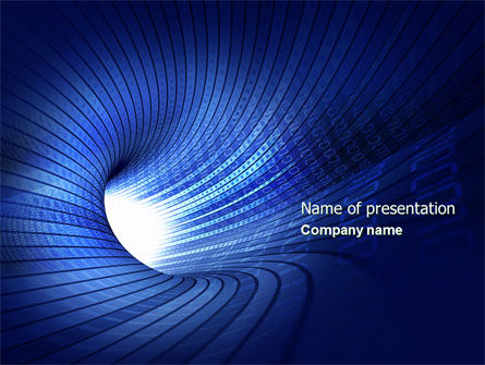 Technology and Science: Digital Tunnel PowerPoint Template #04529