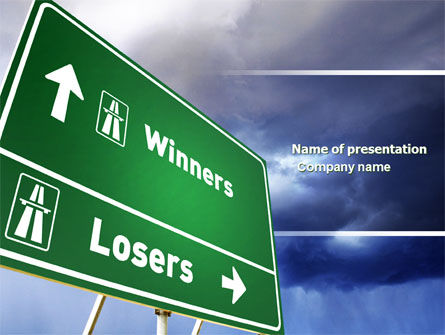 Losers and Winners PowerPoint Template