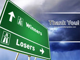 Losers and Winners PowerPoint Template#20