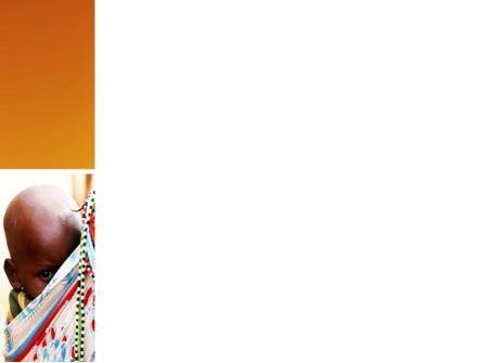 African Baby PowerPoint Template, Slide 3, 04531, People — PoweredTemplate.com