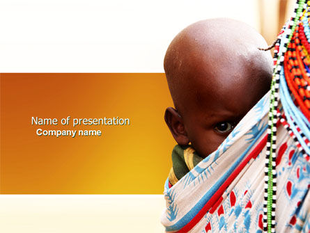 People: African Baby PowerPoint Template #04531