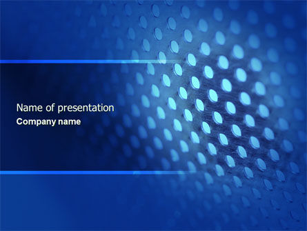 Abstract/Textures: Blue Grate PowerPoint Template #04532