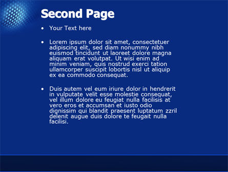 Blue Grate PowerPoint Template Slide 2