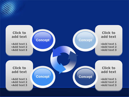 Blue Grate PowerPoint Template Slide 9