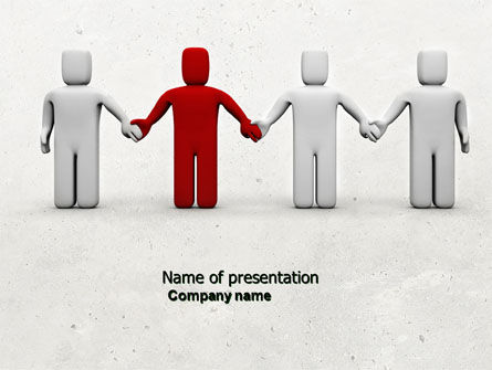 Careers/Industry: Hand In Hand PowerPoint Template #04534