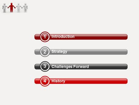 Hand In Hand PowerPoint Template, Slide 3, 04534, Careers/Industry — PoweredTemplate.com