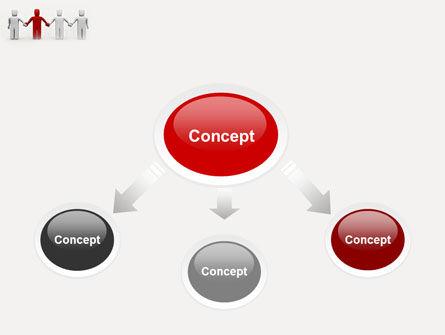 Hand In Hand PowerPoint Template, Slide 4, 04534, Careers/Industry — PoweredTemplate.com