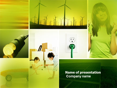 Nature & Environment: Alternative Energy PowerPoint Template #04535