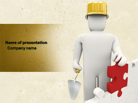 Construction: Reconstruction PowerPoint Template #04537