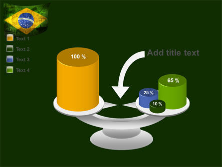 Brazilian Flag With Brazilian Silhouettes PowerPoint Template Slide 10