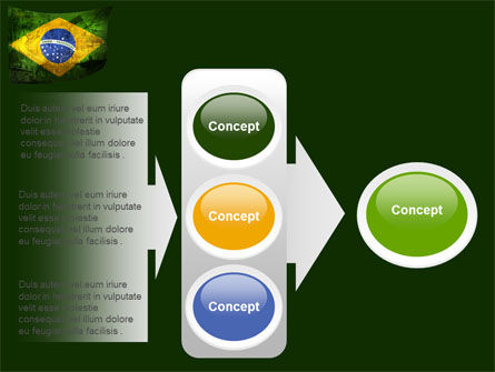 Brazilian Flag With Brazilian Silhouettes PowerPoint Template Slide 11