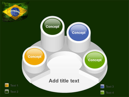 Brazilian Flag With Brazilian Silhouettes PowerPoint Template Slide 12