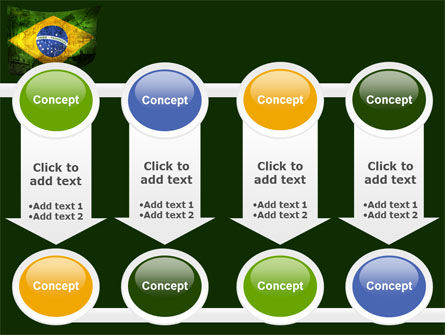 Brazilian Flag With Brazilian Silhouettes PowerPoint Template Slide 18