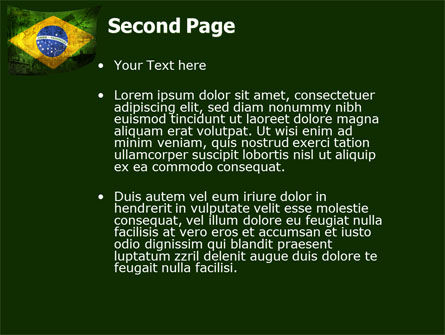 Brazilian Flag With Brazilian Silhouettes PowerPoint Template, Slide 2, 04538, Flags/International — PoweredTemplate.com