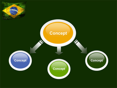 Brazilian Flag With Brazilian Silhouettes PowerPoint Template, Slide 4, 04538, Flags/International — PoweredTemplate.com