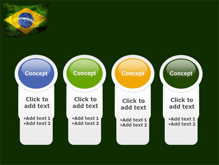 Brazilian Flag With Brazilian Silhouettes PowerPoint Template Slide 5