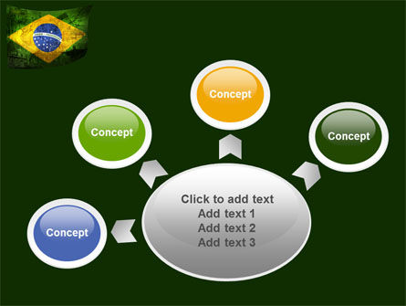 Brazilian Flag With Brazilian Silhouettes PowerPoint Template Slide 7