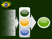 Brazilian Flag With Brazilian Silhouettes PowerPoint Template#11