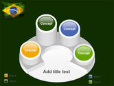 Brazilian Flag With Brazilian Silhouettes PowerPoint Template#12