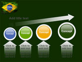 Brazilian Flag With Brazilian Silhouettes PowerPoint Template#13