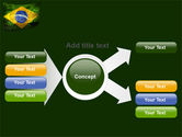 Brazilian Flag With Brazilian Silhouettes PowerPoint Template#14
