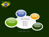 Brazilian Flag With Brazilian Silhouettes PowerPoint Template#16