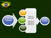 Brazilian Flag With Brazilian Silhouettes PowerPoint Template#17