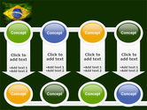 Brazilian Flag With Brazilian Silhouettes PowerPoint Template#18